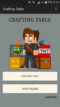 Crafting Table for Minecraft poster