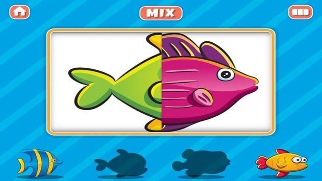 Animal Mix and Match Puzzle poster