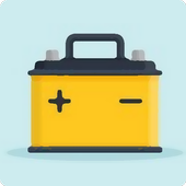 Battery selection by car icon