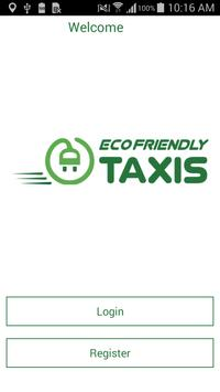 Eco Friendly Taxis Booking App poster