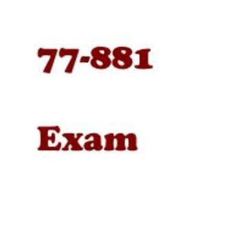 Exam 77-881 poster