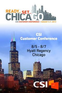 CSI Customer Conference 2013 poster