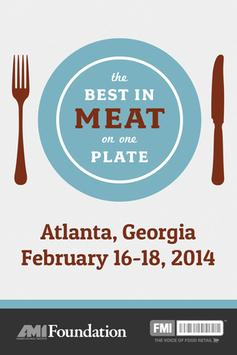 The Annual Meat Conference '14 poster