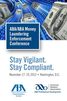2013 ABA Money Laundering poster