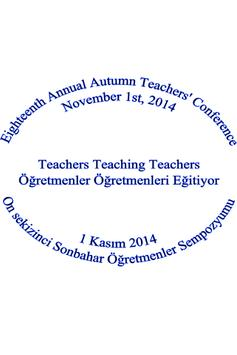 Sonbahar Öğretmenler 2014 poster