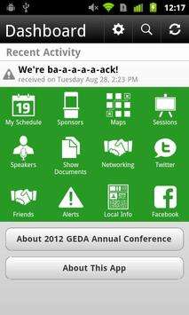 2012 GEDA Annual Conference screenshot 1