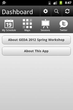 GEDA 2012 Spring Workshop poster