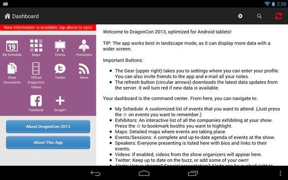 DragonCon 2013 apk screenshot