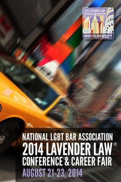 2014 Lavender Law Conference poster