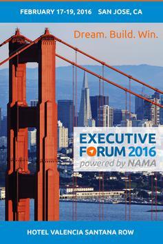 NAMA Executive Forum 2016 poster