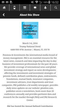 P&I 2016 DC East Conference apk screenshot