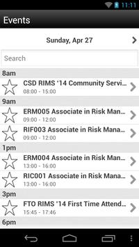 RIMS 2014 Annual Conference apk screenshot