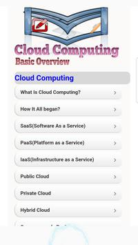 Cloud Computing Basic Overview poster