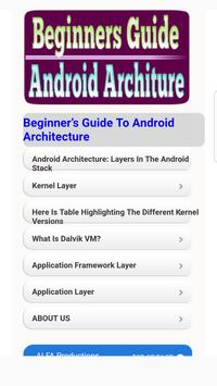Beginners Guide Android Architecture Tutorials poster