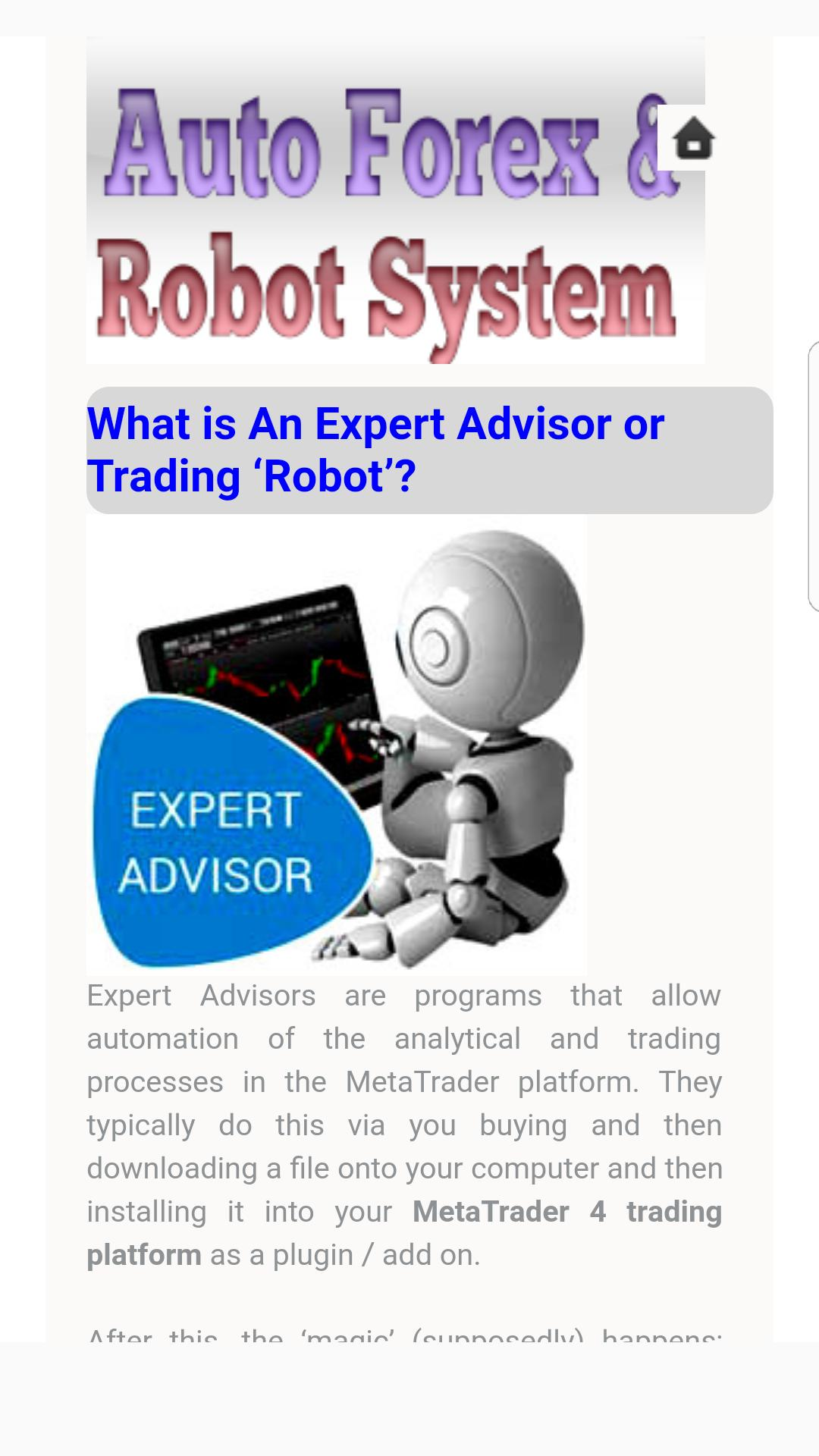 Automated Forex Trading Systems and Robots for Android - APK