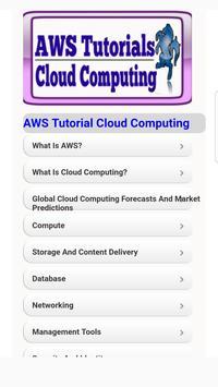 AWS Tutorials for Cloud Computing poster