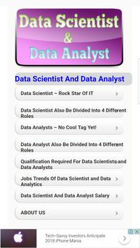 Data Scientist VS Data Analyst poster