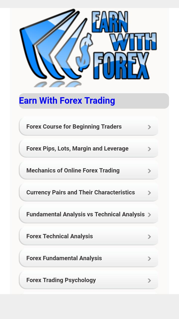 Tutorials for Earn With Forex for Android - APK Download