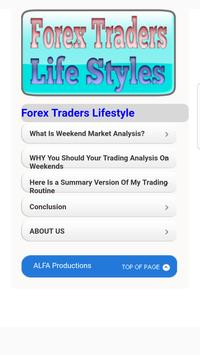 Forex Traders Lifestyle poster