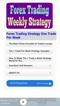 Tutorials for Forex Weekly Strategy poster