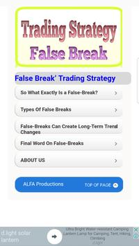 Tutorials for Trading Strategy False Break poster
