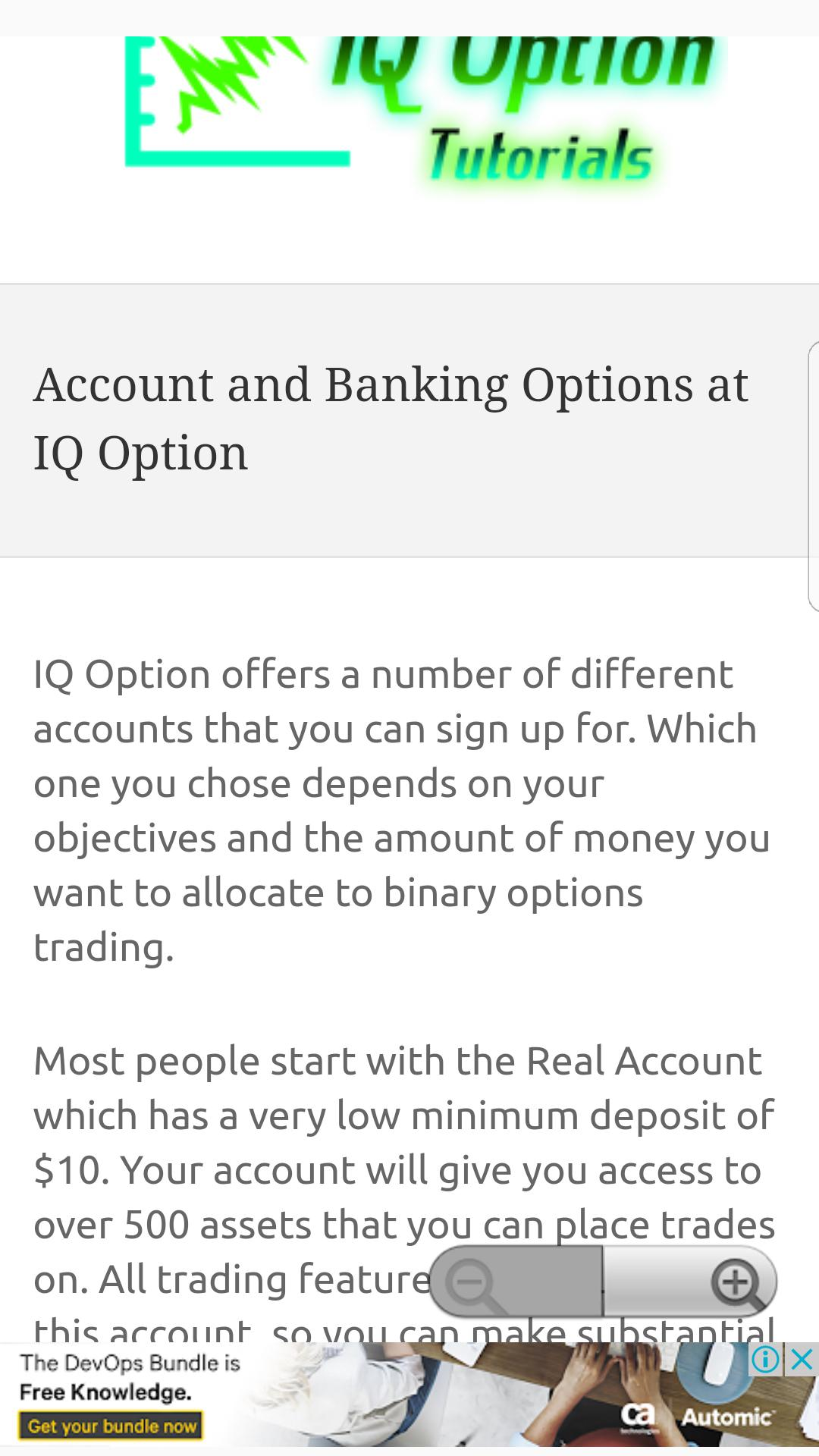 IQ Option Tutorials for Android - APK Download