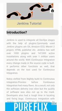 Jenkins Tutorials apk screenshot