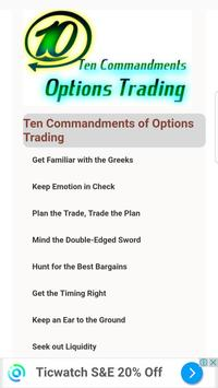 Ten Commandments of Options Trading poster