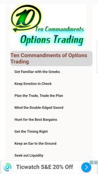 Ten Commandments of Options Trading poster
