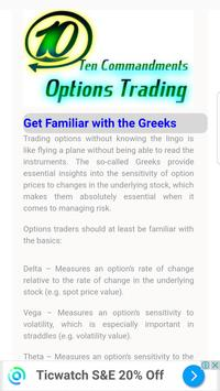 Ten Commandments of Options Trading apk screenshot