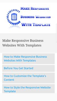 Make Responsive Business Websites With Templates poster