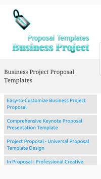 Business Project Proposal Templates poster