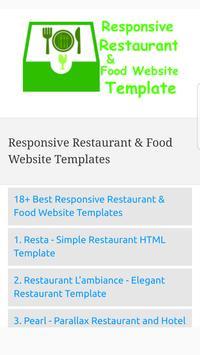 Responsive Restaurant & Food Website Templates poster
