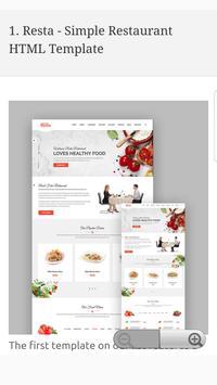 Responsive Restaurant & Food Website Templates screenshot 1