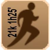 Correr 21k en 1h25' icon