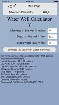 Water Well Calculator 3 screenshot 1