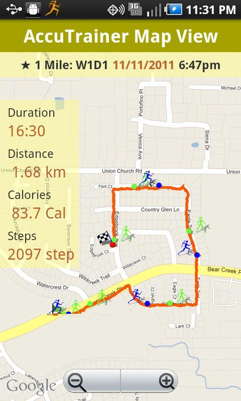 CK Running AccuTrainer APK Download Free Health Fitness APP - Map run distance free