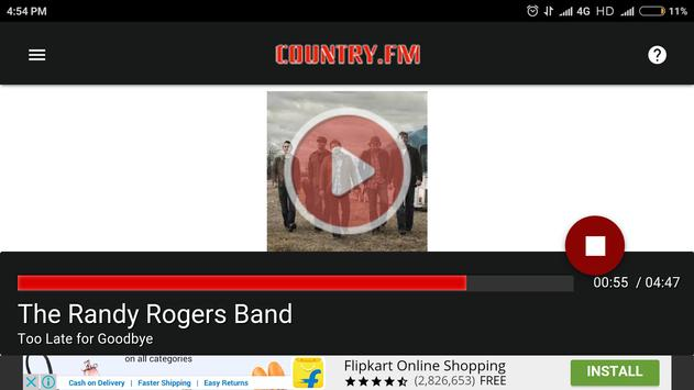 COUNTRY.FM apk screenshot