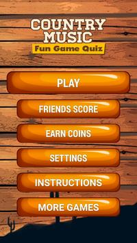 Country Music Fun Game Quiz poster