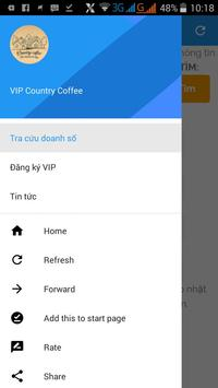 VIP Country Coffee poster
