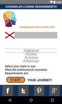 Counselor License Requirements poster