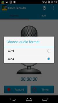 Timer Voice Recorder apk screenshot