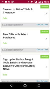 Coupons for Harbor Freight Tools and more screenshot 3