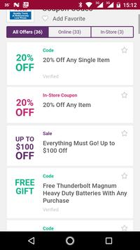 Coupons for Harbor Freight Tools and more screenshot 1