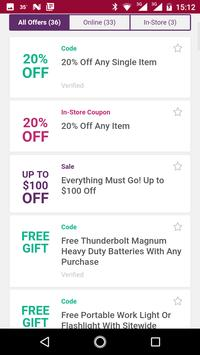Coupons for Harbor Freight Tools and more screenshot 2
