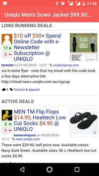 Coupons for Uniqlo discount screenshot 1