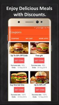 Coupons for McDonald's screenshot 1