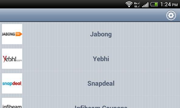 Coupon Code Bazaar apk screenshot