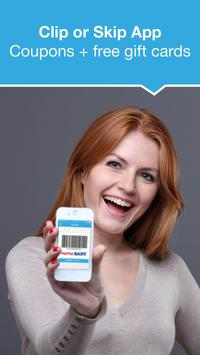 Clip or Skip Coupons App poster