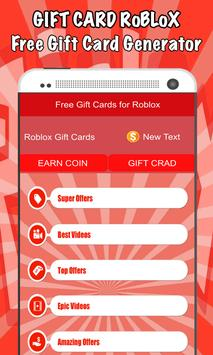 Free Gift Cards For Roblox Gift Cards For Android Apk Download